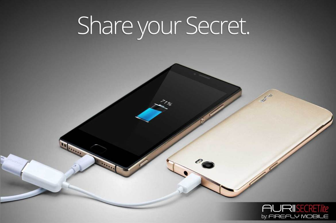 Firefly Mobile's Aurii shares it's power with other phones