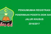Pengumuman Registrasi PPDB Jalur Khusus 2016/2017