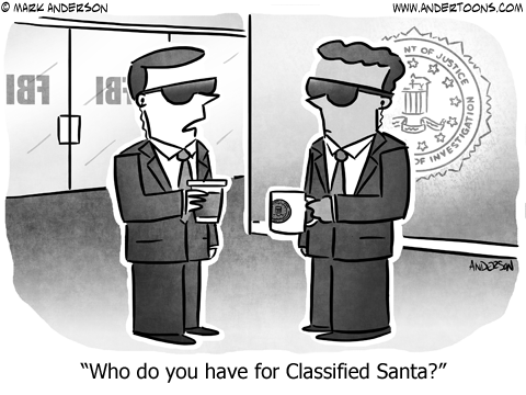 Secret Santa Business Cartoon