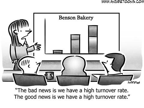 Turnover Business Cartoon