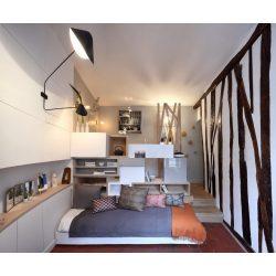 Enchanting Studios Apartment Mini Model Ideas Tiny Space 129 Sq Ft Transformed Into Mini Apartment Space Saving Ideas Like A Pull Out Bed 04 Apartment Mini Model Ideas
