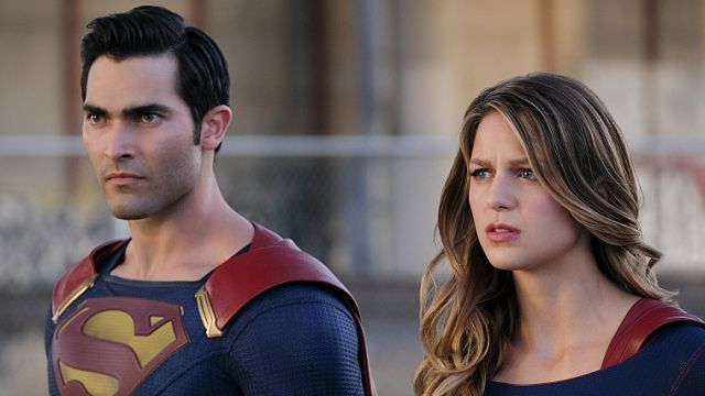 """Supergirl -- """"The Last Children of Krypton"""" -- Image SPG202a_0174-- Pictured (L-R): Tyler Hoechlin as Clark/Superman and Melissa Benoist Kara/Supergirl -- Photo: Robert Falconer/The CW -- © 2016 The CW Network, LLC. All Rights Reserved"""