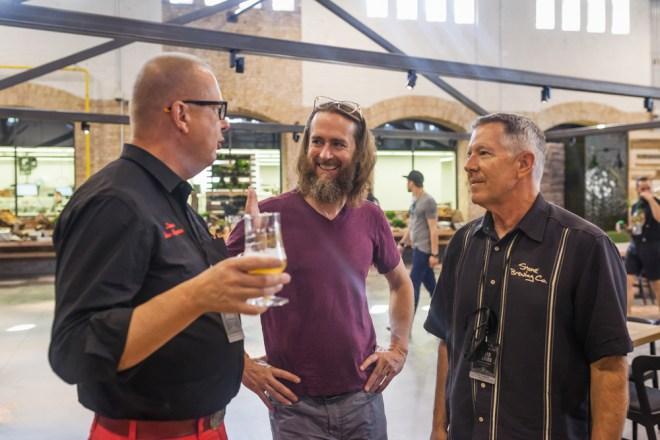 Steve Wagner und Greg Stone von Stone Brewing (Foto: Stefan Haehnel)