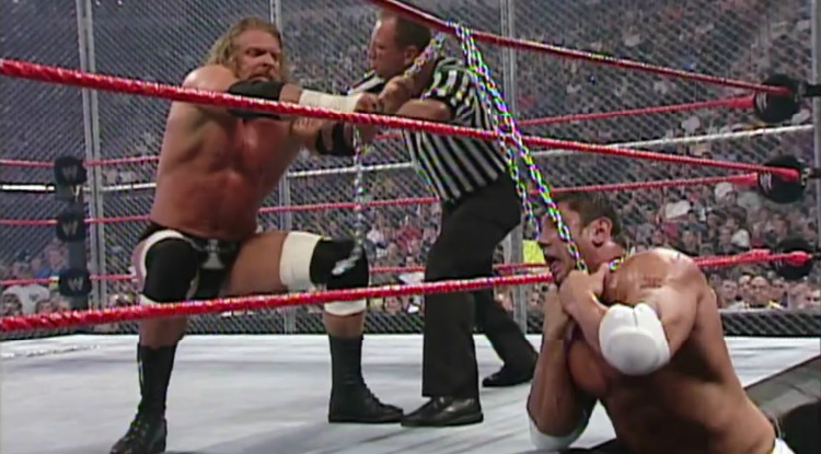 batista vs triple h hell in a cell vengeance 2005