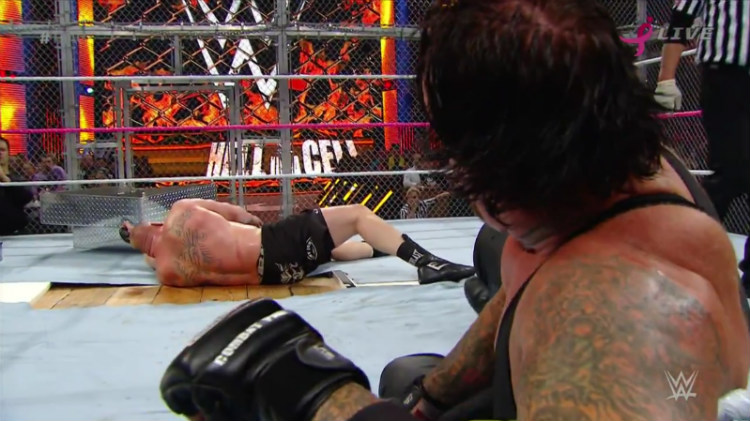 undertaker vs brock lesnar hell in a cell 2015