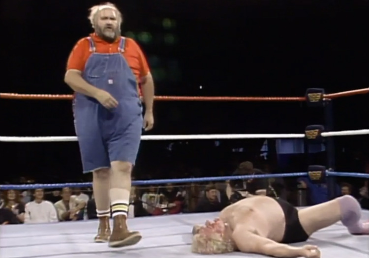 wrestlemania 2 uncle elmer vs adrian adonis
