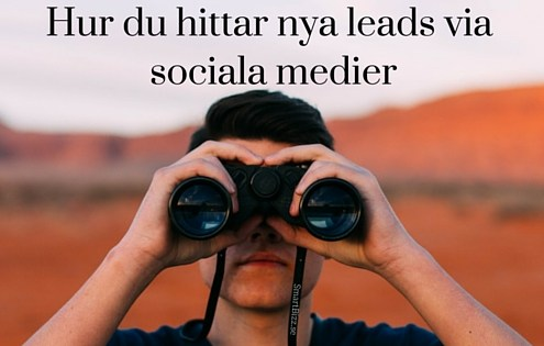 Leads via sociala medier