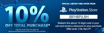 PSN (PlayStation Network) Canada Coupon: Members Get 10% OFF Their Total Purchase This Weekend ...