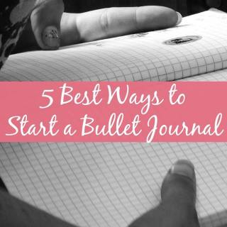 Want to start a bullet journal? Try these 5 tips for starting your own bullet journal.