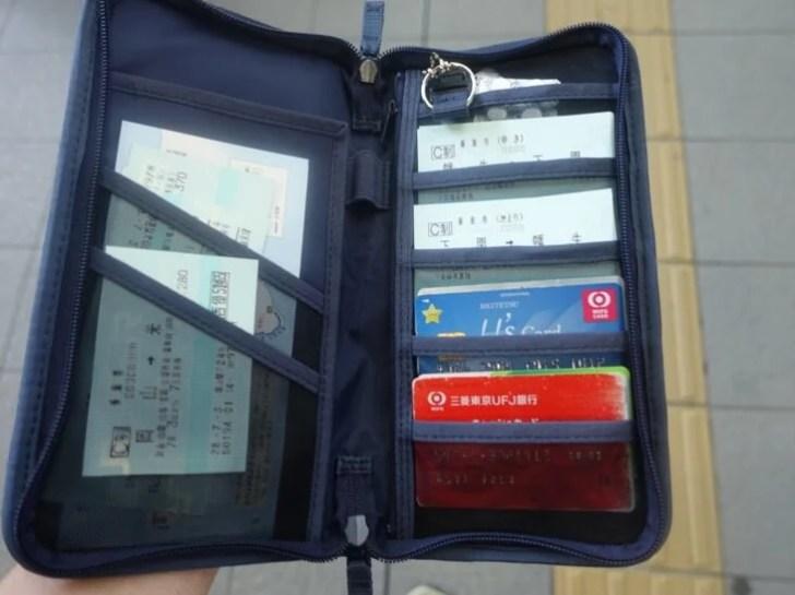 無印良品で購入したパスポートケースの写真