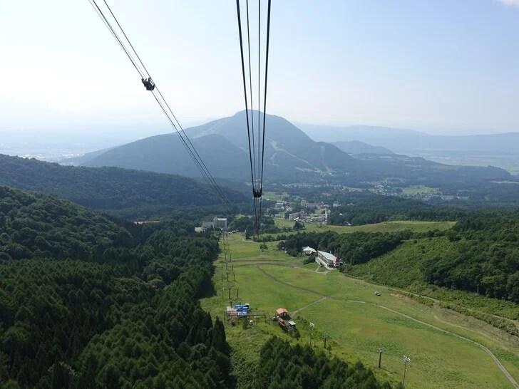 ゴンドラから見た北志賀原高原の写真