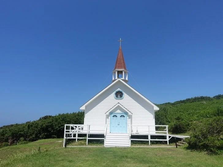 角島で撮影された映画のロケセットを撮影した写真