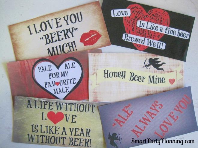 Valentines beer printables