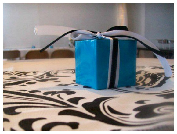 Tiffany Themed Party Favour