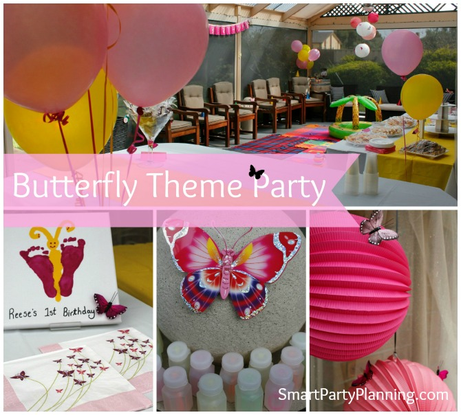 Butterfly Theme Party: 1st Birthday