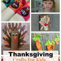 A selection of easy Thanksgiving crafts for kids that they will love making and will make a perfect addition to the Thanksgiving table setting.