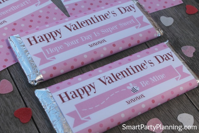Printable Super Sweet Valentine's Wrappers