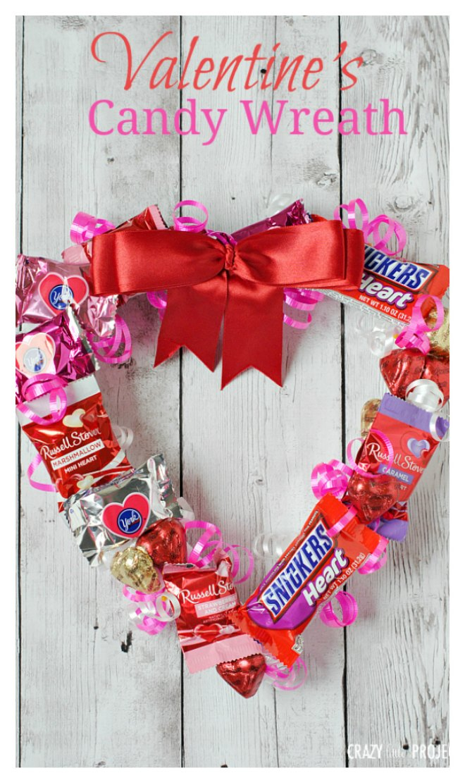 Valentines Candy Wreath