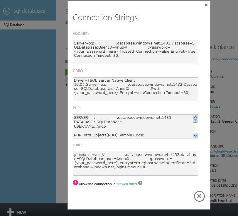 SQLSailor is exploring(Part5) – SQLDatabase Dashboard on Windows Azure (3/4)