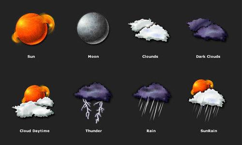 weather icon set 16 35 Free Weather Icon Set