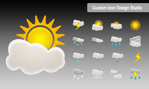 weather icon set 26 35 Free Weather Icon Set