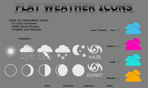 weather icon set 3 35 Free Weather Icon Set