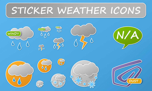 weather icon set 4 35 Free Weather Icon Set