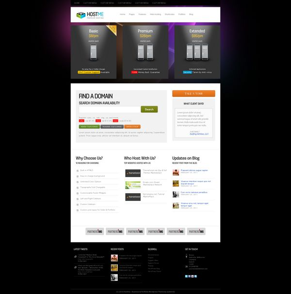 wordpress web hosting theme 08 12 Best Wordpress Web Hosting Themes