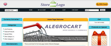 alegrocart 15 Best Open Source Ecommerce CMS