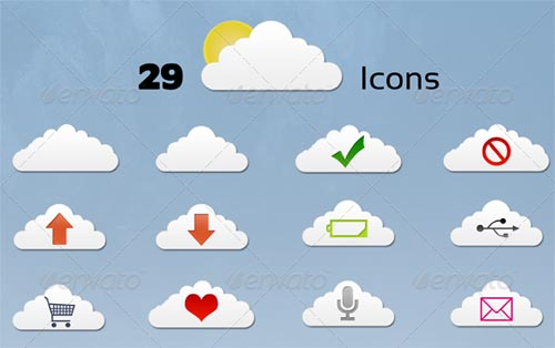 best premium cloud icons set 03 38 Best Premium Cloud and Forecast Icons Set