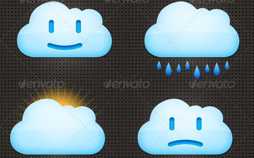 best premium cloud icons set 07 38 Best Premium Cloud and Forecast Icons Set