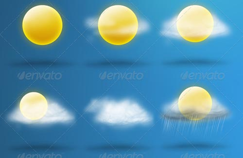 best premium cloud icons set 17 38 Best Premium Cloud and Forecast Icons Set