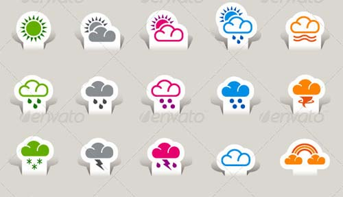best premium cloud icons set 29 38 Best Premium Cloud and Forecast Icons Set