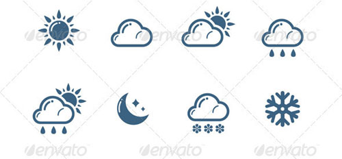 best premium cloud icons set 33 38 Best Premium Cloud and Forecast Icons Set