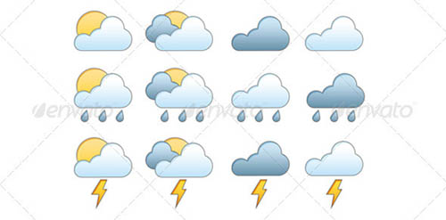 best premium cloud icons set 38 38 Best Premium Cloud and Forecast Icons Set