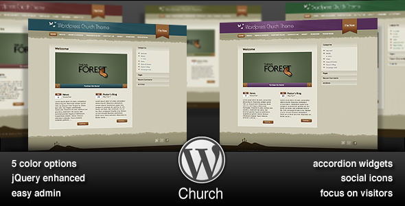free and premium church wordpress themes church 30 Free and Premium Church Wordpress Themes