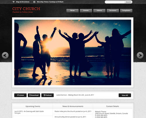 free and premium church wordpress themes malachi 30 Free and Premium Church Wordpress Themes