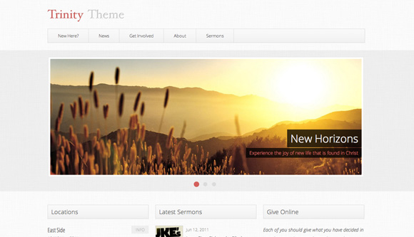 free and premium church wordpress themes trinity 30 Free and Premium Church Wordpress Themes
