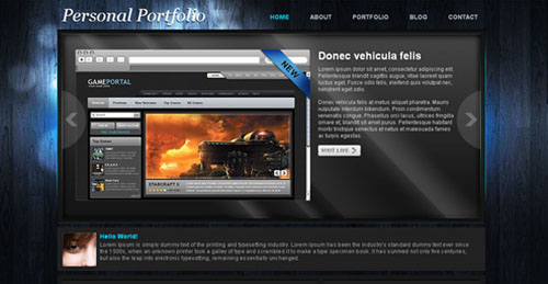 free portfolio html website templates 09 15 Free Portfolio HTML Website Templates