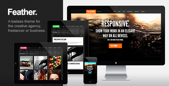 best portfolio wordpress themes 10 25 + Best Portfolio WordPress Themes for August 2012