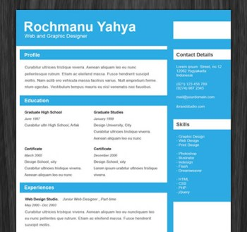 creative resume template 031 22 Free Creative Resume template