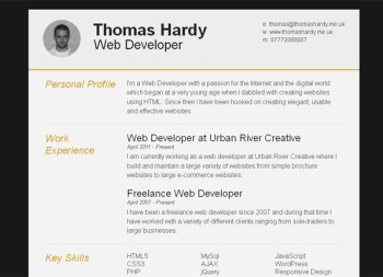 creative resume template 06 22 Free Creative Resume template