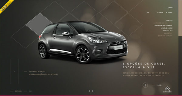 novo citroen ds3 Web Design Inspiration #11