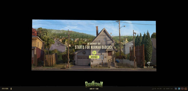 paranorman Web Design Inspiration #8