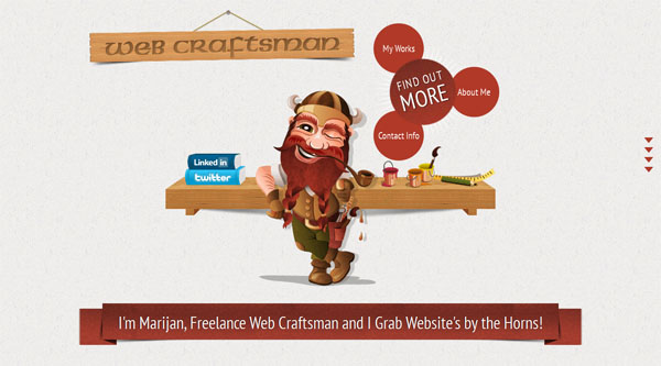 web craftsman Web Design Inspiration #11