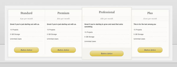 wordpress pricing table plugins 02 10 Free and Premium Wordpress Pricing Tables Plugins