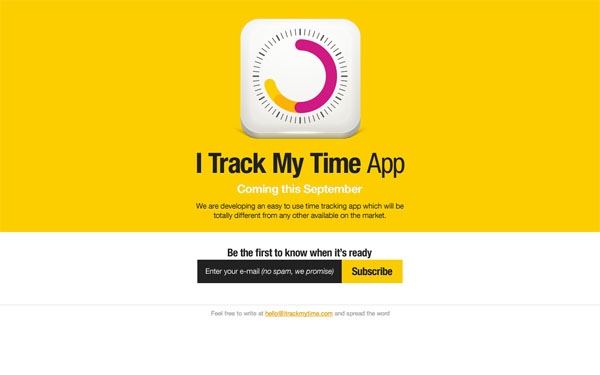 I Track My Time App Web Design Inspiration #14