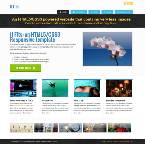 It Fits Full Screen responsive 12 Free Responsive HTML Website Templates