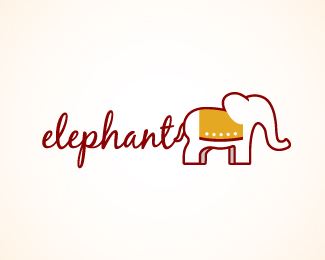 elephant logo design 01 30 Elephant Logo Design Inspiration