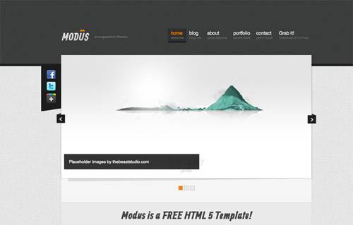 free responsive html website templates modus 12 Free Responsive HTML Website Templates